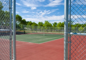 (916) 682-1100 Sacramento Tennis Courts Chain Link S&S Fence Company Sacramento private tennis courts Sacramento custom tennis courts